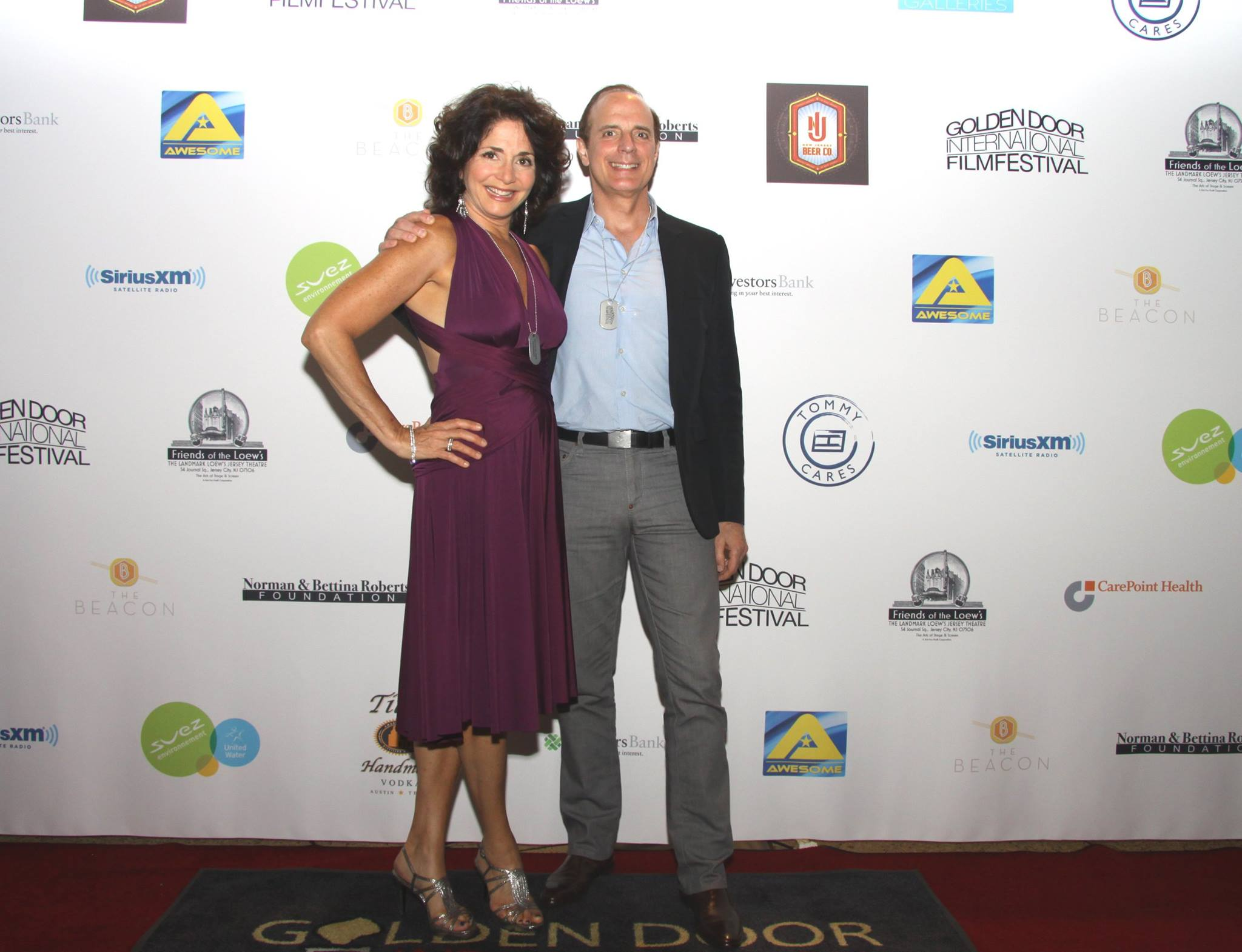 Lead Actress Jennifer Jiles with EP and Supporting Actor Mark Lobene Red Carpet Opening Night of Golden Door International Film Festival